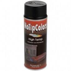 Karščiui atsparūs purškiami dažai, juodi